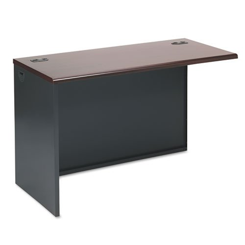 HON Products - HON - 38000 Series Return Shell, Left, 48w x 24d x 29-1/2h, Mahogany/Charcoal - Sold As 1 Each - Not freestanding. Use with Desk Shell to create -