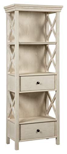 (Ashley Furniture Signature Design - Bolanburg Display Cabinet - 2 Drawers - 3 Shelves - Antique White )