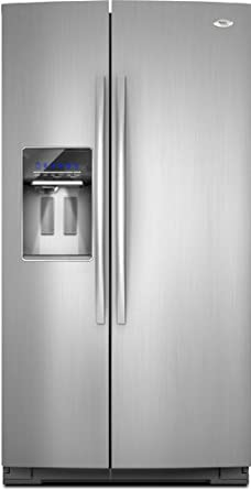 whirlpool gsc25c6eyy 246 cu ft stainless steel counter depth sidebyside