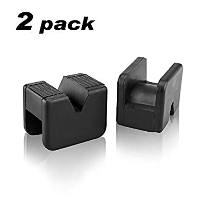 Seven Sparta Jack Pad Adapter for Jack Stand Universal Rubber Slotted Frame Rail Pinch welds Protector