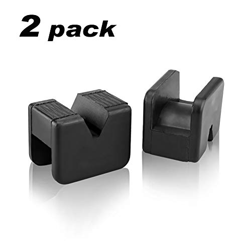 Seven Sparta Jack Pad Adapter for Jack Stand Universal Rubber Slotted Frame Rail Pinch welds Protector 2 Pack