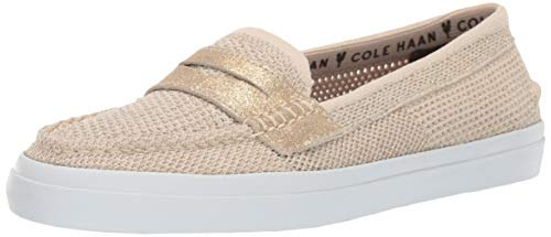 (Cole Haan Women's Pinch Weekender LX Stitchlite Loafer Flat Brazilian Sand/CH Gold Knit 6.5 B US)