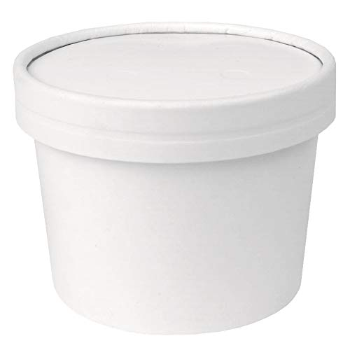 12 oz Freezer Containers And Lids - With Non-vented Lids to Prevent Freezer Burn - Durable Heavy Duty Ice Cream Containers! Fast Shipping - Frozen Dessert Supplies - 25 Count