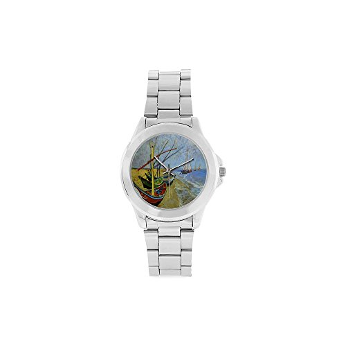 Christmas Gifts/Thanksgiving Day Gifts Vincent Van Gogh Paintings Unisex Stainless Steel Watch -