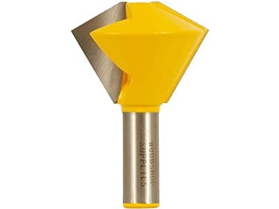 Yonico 15139 Bird's Mouth Glue Joint Router Bit with 6 and 12 Sided 1/2-Inch Shank by Yonico from Precision Bits.com