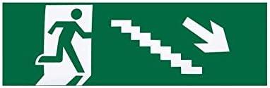 Adhesivo Salida Emergencia Escalera Derecha Bajada 6,5x20: Amazon.es: Iluminación