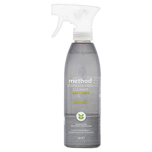 Method Stainless Steel for Real Surface Cleaner 345 ml (Pack of 6)