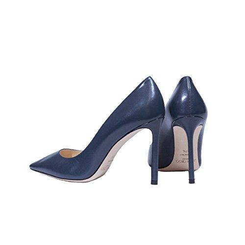 Choo Escarpins Jimmy ROMY100KIDSTORMYBLUE Bleu Cuir Femme FxqXY4d