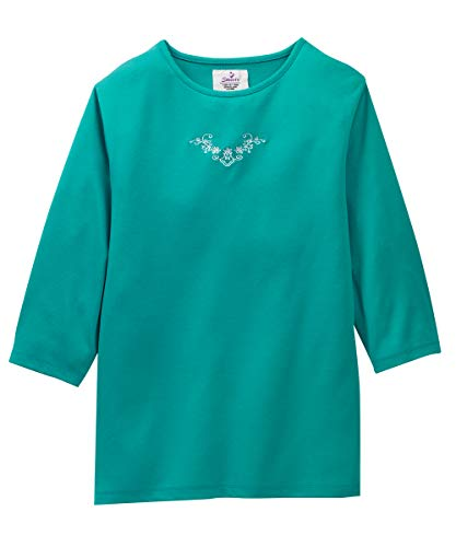 - Womens Adaptive Top - Clothing for Disabled Adults - Sea Green MED