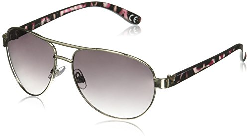 Foster Grant Women's Bewitching Aviator Sunglasses, Silver, 59 - Aviator Sunglasses Grant Foster