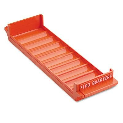 (MMF Industries Porta-Count System Rolled Coin Plastic Storage Tray, Orange, Case of 2)