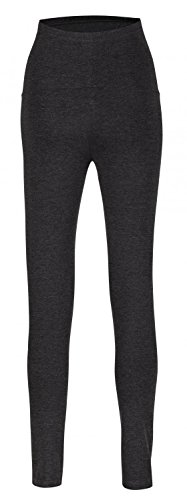 Happy Mama. De Las Mujeres Maternidad cintura elástica Leggings over-the-bump. 975p Graphite Melange