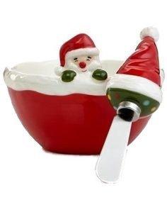 Holiday Figurals (Martha Stewart Collection Serveware, Holiday Vintage Paper Figural Santa Dip Bowl with)