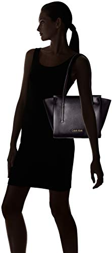 Épaule Portés Sacs Med Frame Shopper Jeans Calvin Klein black Noir FxCwOq7Fvn