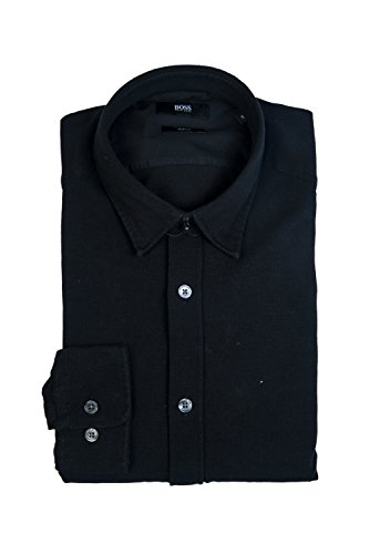 Hugo Boss - Camisa casual - Clásico - Manga Larga - para hombre negro