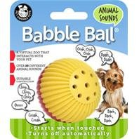 BBLE BALL - Size: SMALL - Color RED & YELLOW (Animal Sounds Babble Ball)
