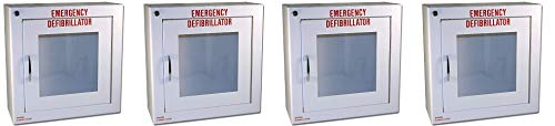 First Voice TS145SM-1 AED Basic Wall Standard Cabinet with Alarm, 13.5'' W x 13'' H x 5.25'' D (4-(Pack))