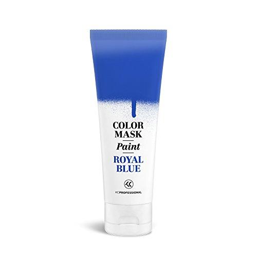 KC Professional Color Mask Paint Semi-Permanent Royal Blue Hair Color Cream - Color Mask Paint Royal Blue, Direct Hair Dye 2.55 oz