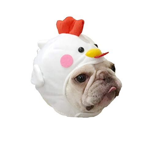 Stock Show Pet Costume Dog Cat Cute Novelty Chick Hat Headwear with Sticker Dog Cat Funny Chicken Hen Costume Hat Pet Soft Headgear for Halloween Xmas Festival Birthday Theme Party Photo Prop]()