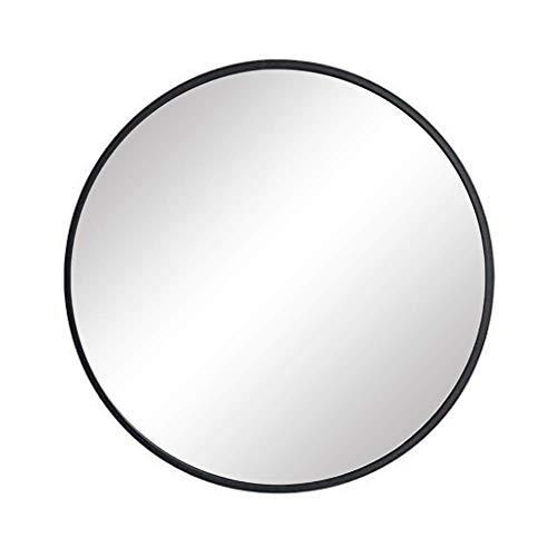 FANYUSHOW Nordic Round Mirror, Bathroom Round Mirror, Wall-Mounted Bathroom Mirror,15.7'' Modern Brushed -