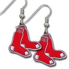 (MLB Licensed Team Logo Dangle Earrings (Boston Red Sox))