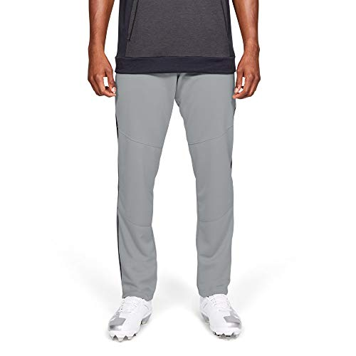 Under Armour Men's IL Utility Relaxed Pants Pipe, Baseball Gray (080)/Black, Medium