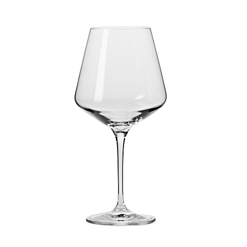 Household Essentials KROSNO Vera Red Wine Glasses (Set of 6), 16 oz, Clear
