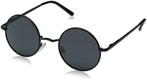 Aoron Lennon Style Vintage Round Polarized Sunglasses 46mm Lens Width