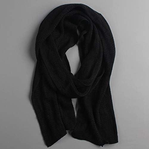 LASISZ /Écharpe Chaude dhiver tricot/ée /épaisse /écharpes dhiver Chaud Cachemire Masculin Chaud Hommes /écharpes Rouge