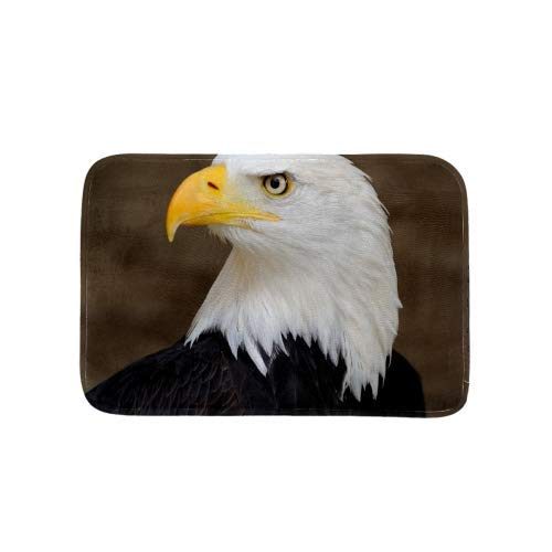 USA Bald Eagle Area Rug Non Slip Indoor Mat Rug for Chair Office and Home Decorative Floor - Usa Flowers Heys