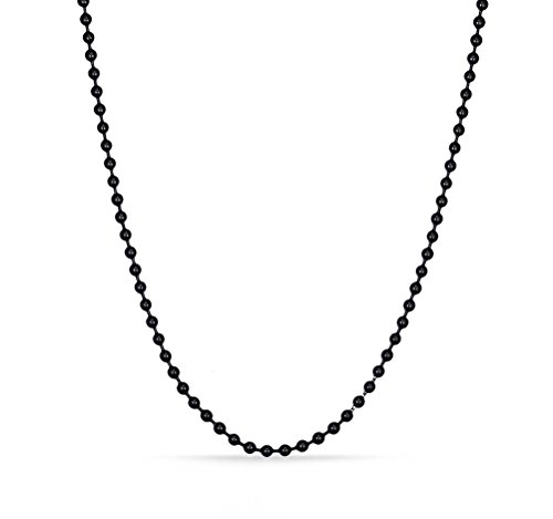 VNOX Stainless Steel Bead Ball Chain Necklace for Men Women Pendant Accessory Chain ()