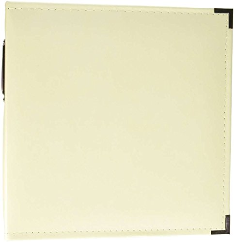 We R Memory Keepers 8.5 x 11-inch Classic Leather 3-Ring Album Vanilla, includes 5 page protectors by We R Memory Keepers