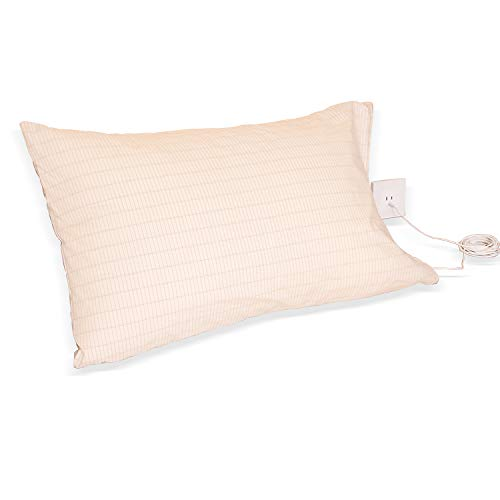 Earthing Pillow Case with Grounding Connection Cord- Organic Cotton -Antimicrobial Fiber for Better Sleep, Natural Wellness, Reduce Pain and Inflammation, Reconnect to The Earth EMF Recovery