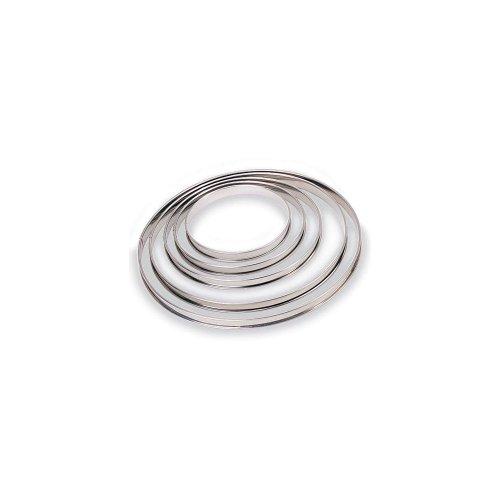 "Paderno World Cuisine Pastry Ring, Tart, S/S, DIA 3 1/2"" x H 3/4"""