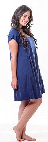 My Bella Mama Nursing Nightgown - Medium Blue