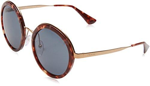 Prada PR50TS UE02K1 Pink Havana PR50TS Round Sunglasses Lens Category 3 Size - Sunglasses Pink Prada