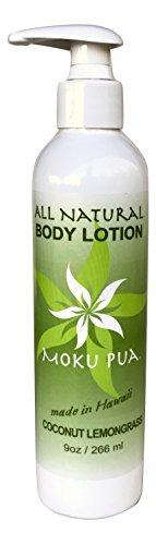 - Moku Pua All Natural Body Lotion, Coconut Lemongrass, 9oz