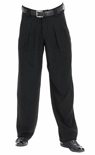 homme des noir vintage Pantalon à Boogie301706 le style pour années rétro plis dans 1950modèle 5q4Lc3ARjS