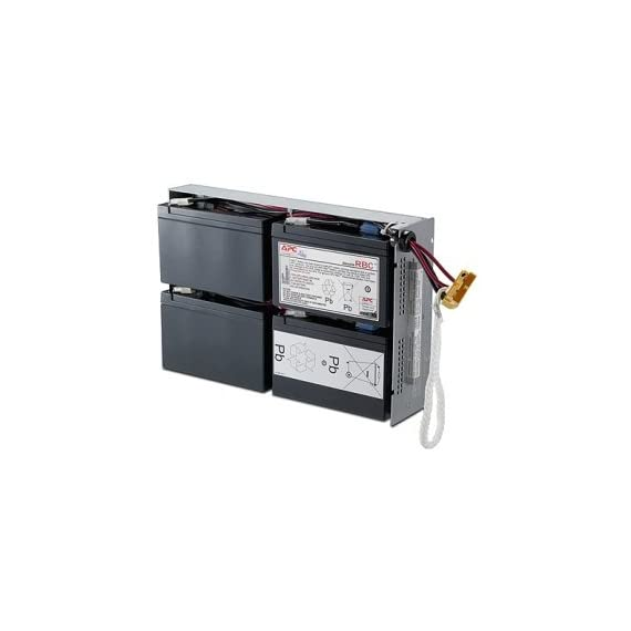 """APC UPS Battery Replacement for APC Smart-UPS models SMT1500RM2US, SMT1500R2-NMC, SU1400R2BX120, SU1400RM, SU1400RM2U, SU1400RMNET, SUA1500RM2U, SUA1500RMUS (RBC24) 1 <p>Hot swappable batteries - ensures clean, uninterrupted power to protected equipment while batteries are being replaced. BUY ONLY GENUINE APC PRODUCTS! For genuine APC by Schneider Electric Products from the manufacturer, buy only if the product says """"Ships from and sold by Amazon.com"""" Genuine APC replacement battery cartridges (RBC) are tested and certified for compatibility to restore UPS performance to the original specifications Includes all required connectors, Battery recycling guide, Installation guide, Metallic battery tray or enclosure, Reusable packaging RBC24 is compatible with many APC models including SUA1500RM2U, SMT1500R2-NMC and more. See product page for complete list Operating Temperature 32 - 104 °F ( 0 - 40 °C ). Operating Relative Humidity 0 - 95 %. Storage Temperature -15 - 45 °C</p>"""