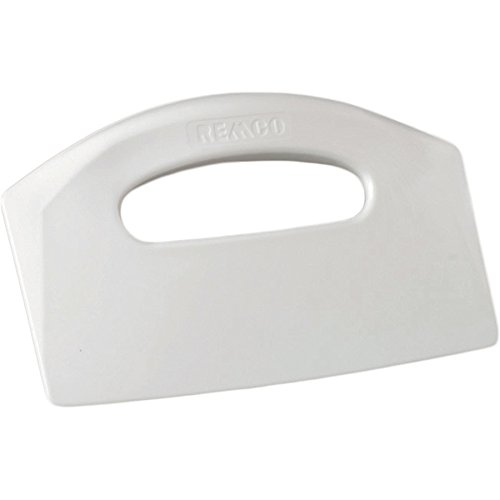 - Remco 69605 White Polypropylene Stiff Bench Scraper, Injection Molded Blade, 5