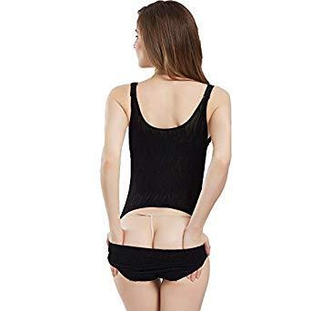 adc93ceb0b0 CR Women Lingerie Plus Size Body Shaper Slim Corset Slimming Suits  Bodysuits Tummy Shaper Modeling Belt Slimming Underwear Color B Black Size  S  Amazon.in  ...