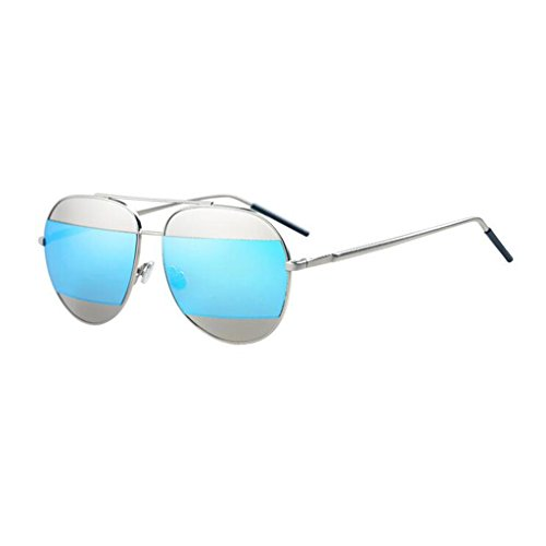Color Box Fashion Azul Polarized Beach Elegante HOME Personality Big de Gafas Azul Vintage Sol QZ Light SwFHWUO1q