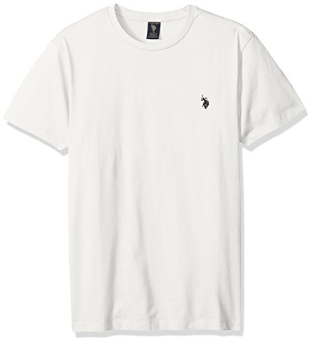 U.S. Polo Assn. Men's Crew Neck Small Pony T-Shirt, White Winter, (Winter Crew Shirt)