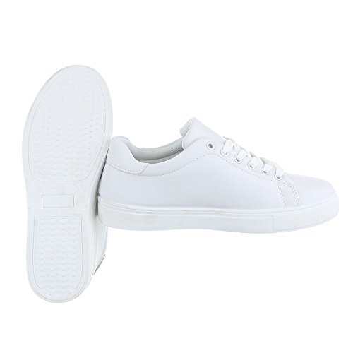 Ital-Design - Zapatillas de casa Mujer Weiß FC-S27