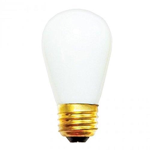 25 Qty. Halco 11W S14 White Ceramic 130V Halco S14WH11C 11w 130v Incandescent Ceramic White Lamp Bulb by Halco