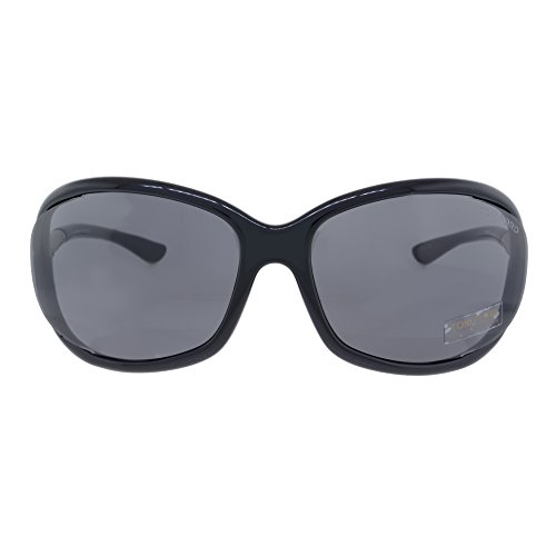 Tom Ford Jennifer FT0008 Sunglasses-199 Shiny Black (Dark Gray - Tom Ford E