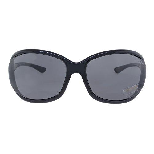 Tom Ford Jennifer FT0008 Sunglasses-199 Shiny Black (Dark Gray - Tom Ford Designs