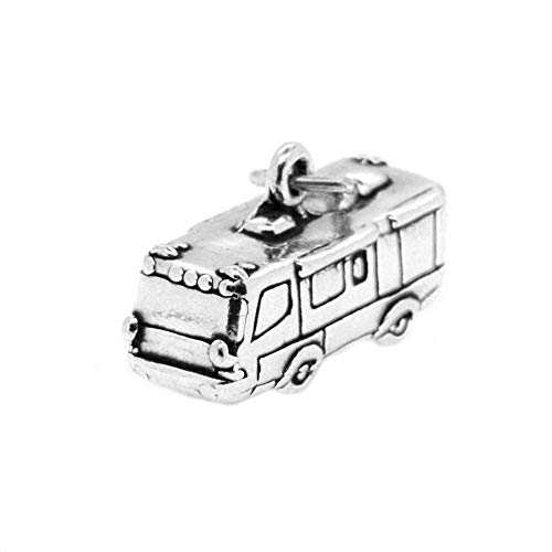 Sterling Silver Travel 3D RV Charm Pendant Jewelry Making Supply Pendant Bracelet DIY Crafting by Wholesale Charms]()