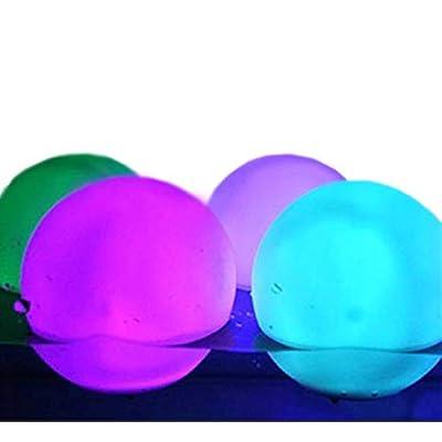 "MicroTronixx Set of 12 Floating LED Light Up Mood Light Deco Ball Glow Orbs 3"" Diameter Water Resistant Indoor/Outdoor Plus Spare Replacement Batteries Bundle : Garden & Outdoor"