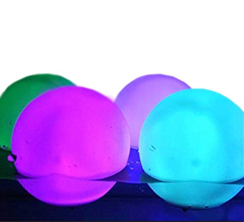 Set Of 12 Mood Light Garden Deco Balls (Light Up Orbs) With Two 5-Packs Of Spare Replacement Batteries - Bundle: 14 Items -